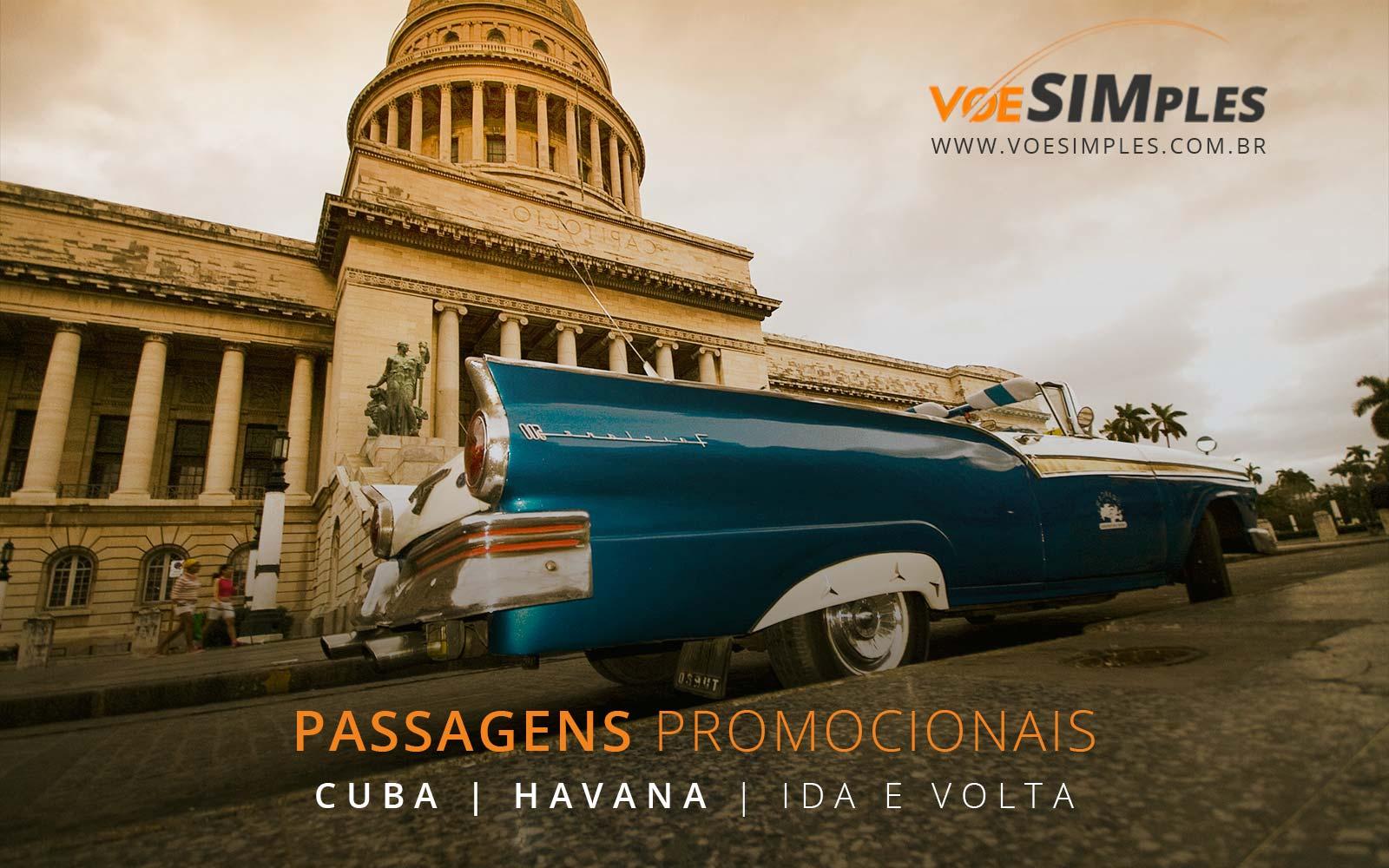 Passagens aéreas promocionais para Havana em Cuba!