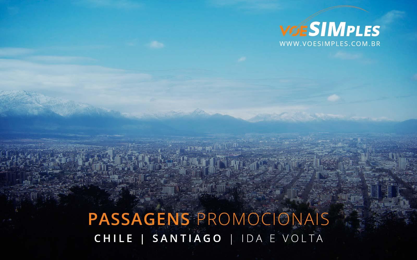 Passagens aéreas baratas para Santiago no Chile