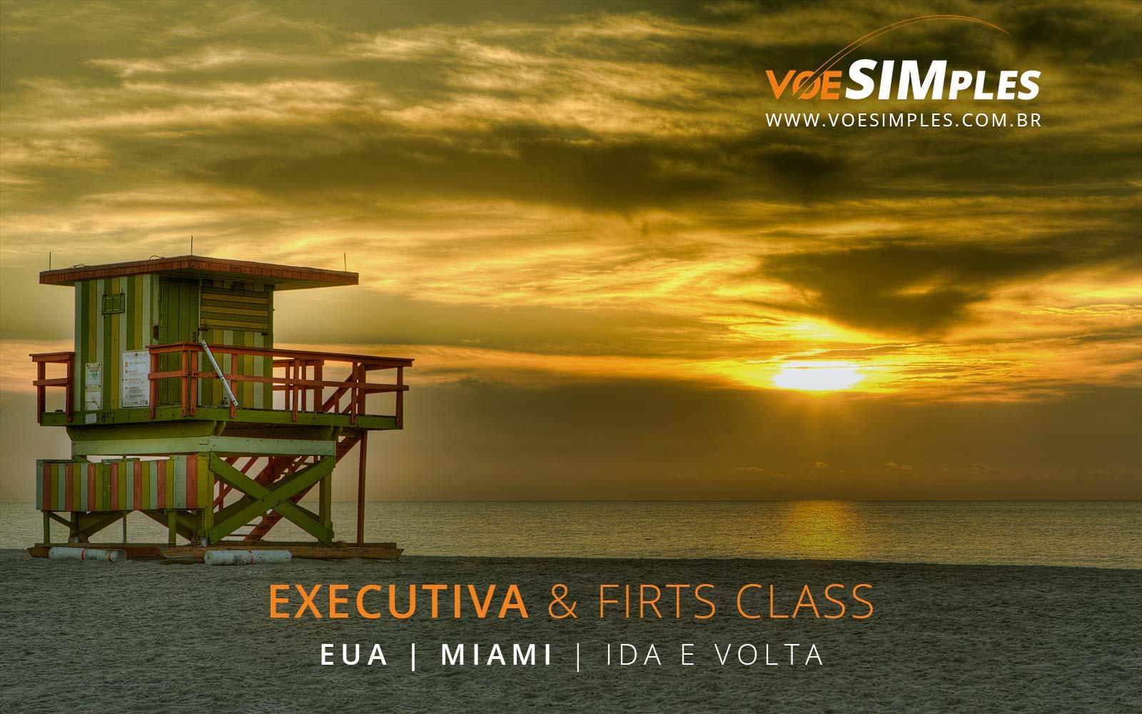 Passagens aéreas em Classe Executiva para Miami nos Estados Unidos