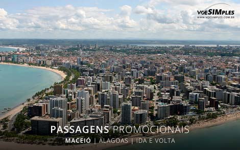 Passagens aéreas promocionais para Maceió