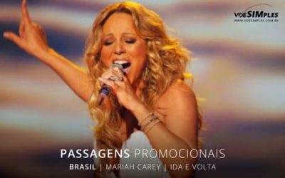 Passagem aérea para o Show da Mariah Carey