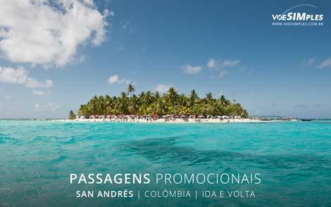 Passagens aéreas promocionais para San Andrés
