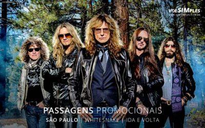 Passagem aérea para o Show Whitesnake