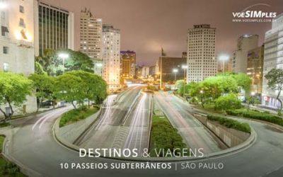 passeios subterrâneos de São Paulo