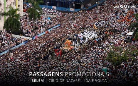 Passagens aéreas promocionais para o Círio de Nazaré