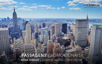 Passagens aéreas promocionais para Nova Iorque