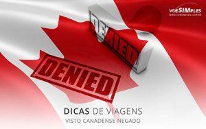 visto canadense negado