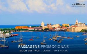 Passagem aérea para o Caribe