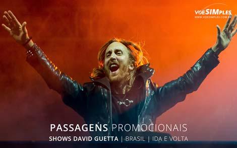 Passagem aérea para show David Guetta