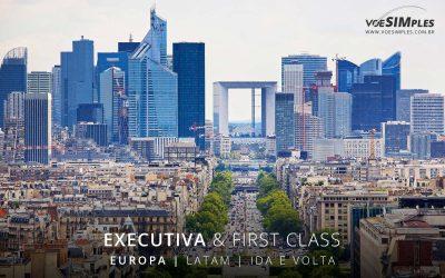 Passagem aérea Executiva Latam para Europa