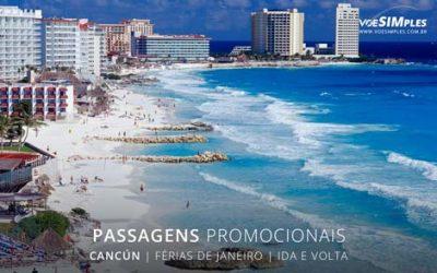 Passagem aérea para feriado de férias de janeiro 2017 para Cancun