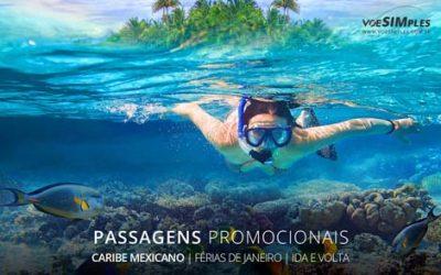 Passagem aérea barata para férias para o Caribe Mexicano