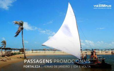 Passagem aérea em promoção para turismo em janeiro para Fortaleza