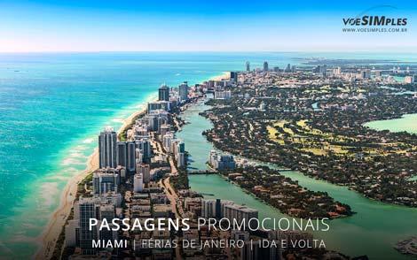 Passagem aérea promocional férias de janeiro 2017 para Miami