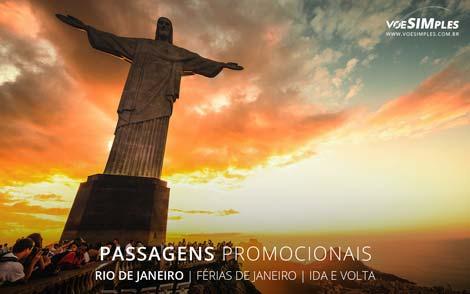 Passagens aéreas promocionais para viagem de férias 2017 para o Rio de Janeiro