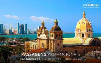 Passagens aéreas em promoção para turismo em janeiro 2017 para Cartagena