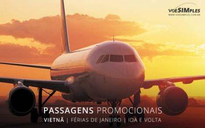 Comprar passagem aérea para turismo em janeiro para o Vietnã