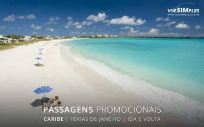 Passagens aéreas promocionais de férias de janeiro 2017 para o Caribe