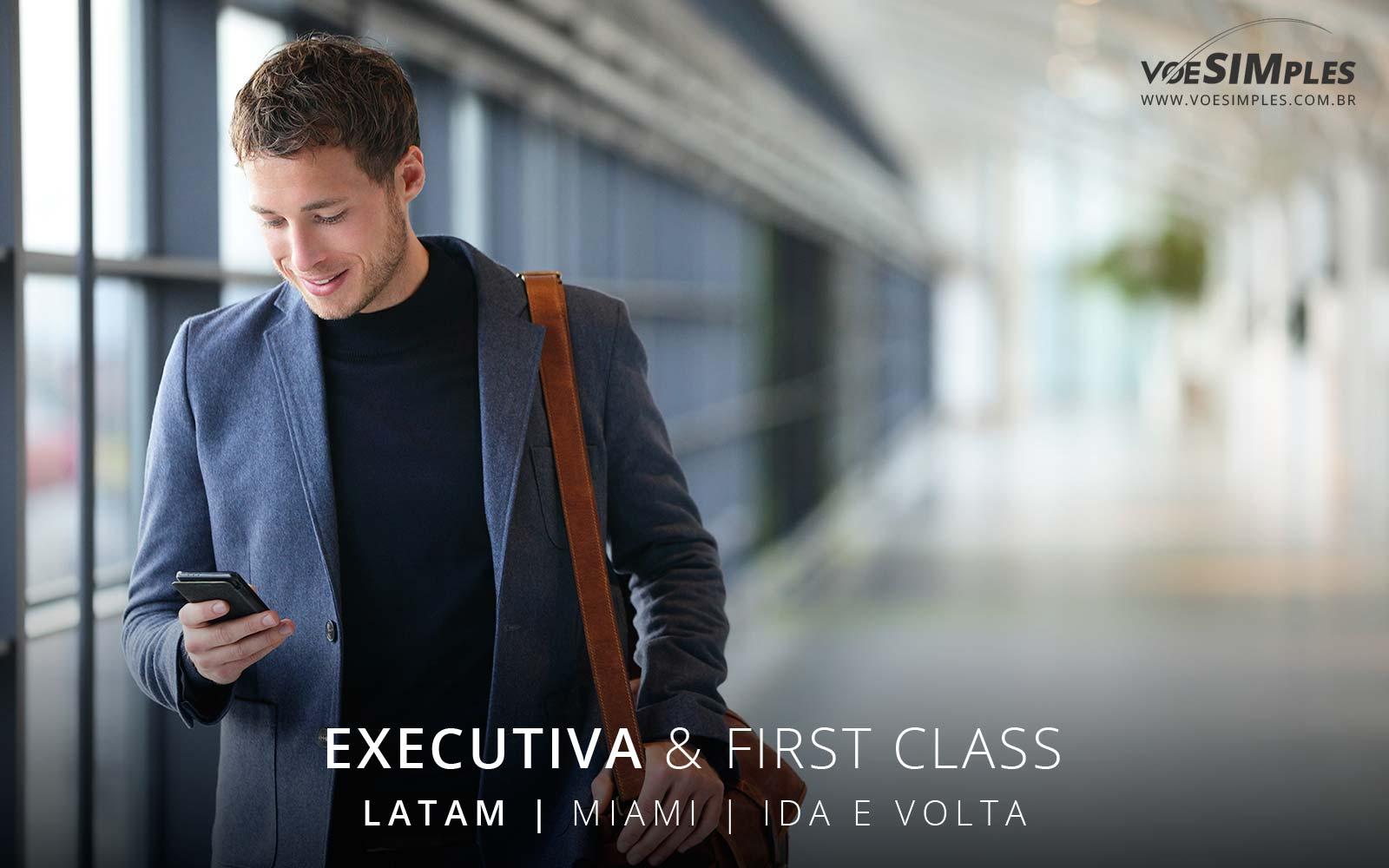 Passagem aérea Executiva Latam para Miami