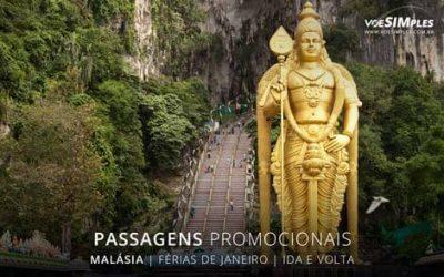 Passagem aérea promocional barata de férias janeiro para Malásia