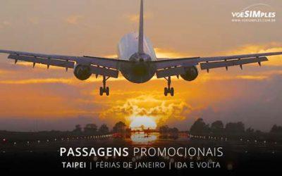 Passagens aéreas promocionais baratas de férias 2017 para Taipei