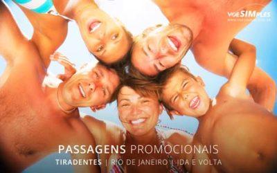 Passagem aérea promocional Tiradentes