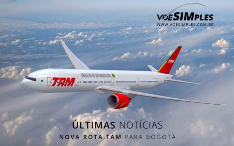 Nova rota TAM para Bogotá