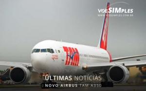 Novo avião airbus A350 da tam