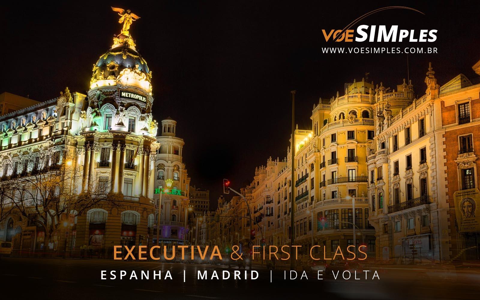 Passagem aérea Classe Executiva Madri