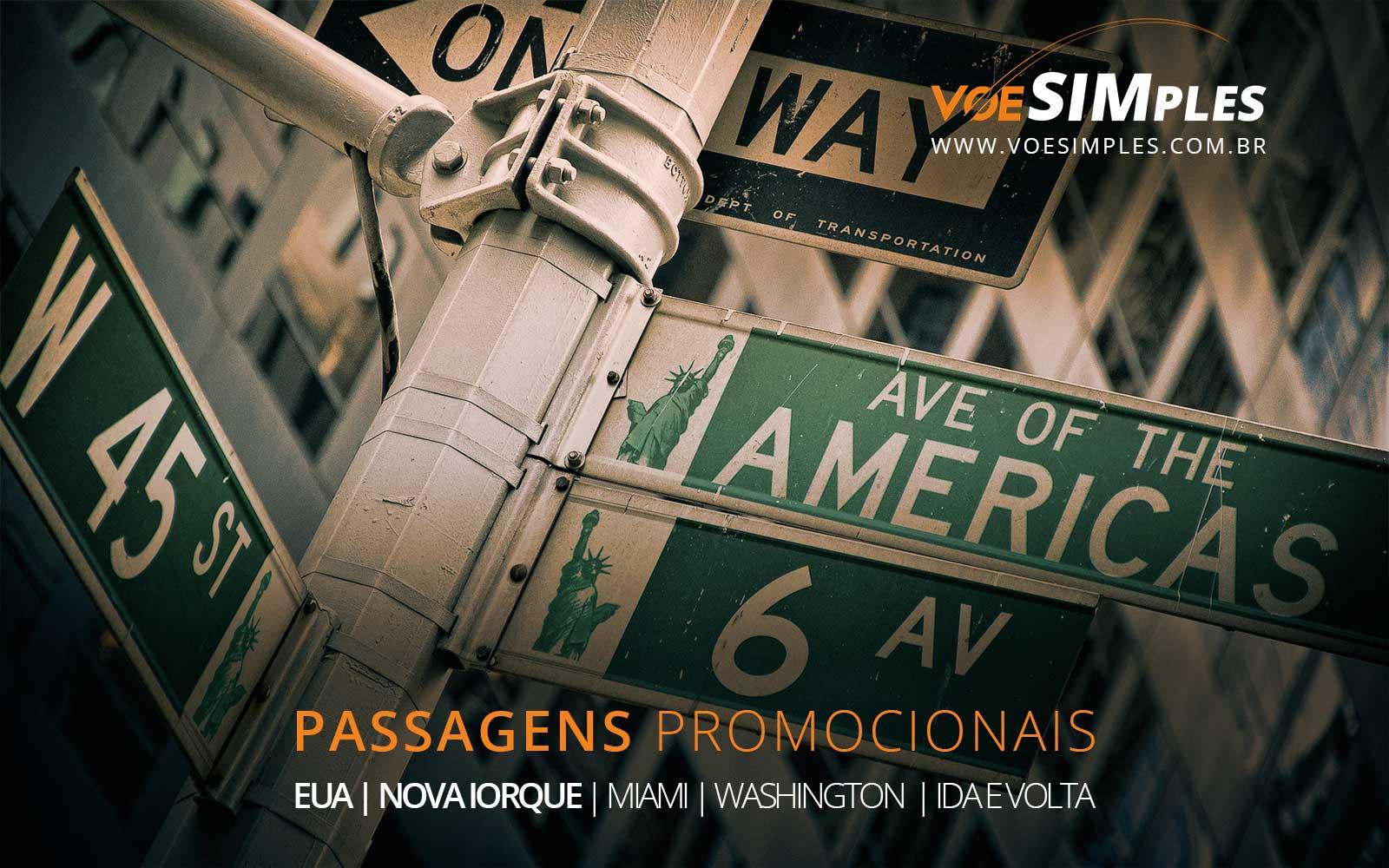 Passagens para o Natal e Ano Novo em Miami, Nova York e Washington nos Estados Unidos