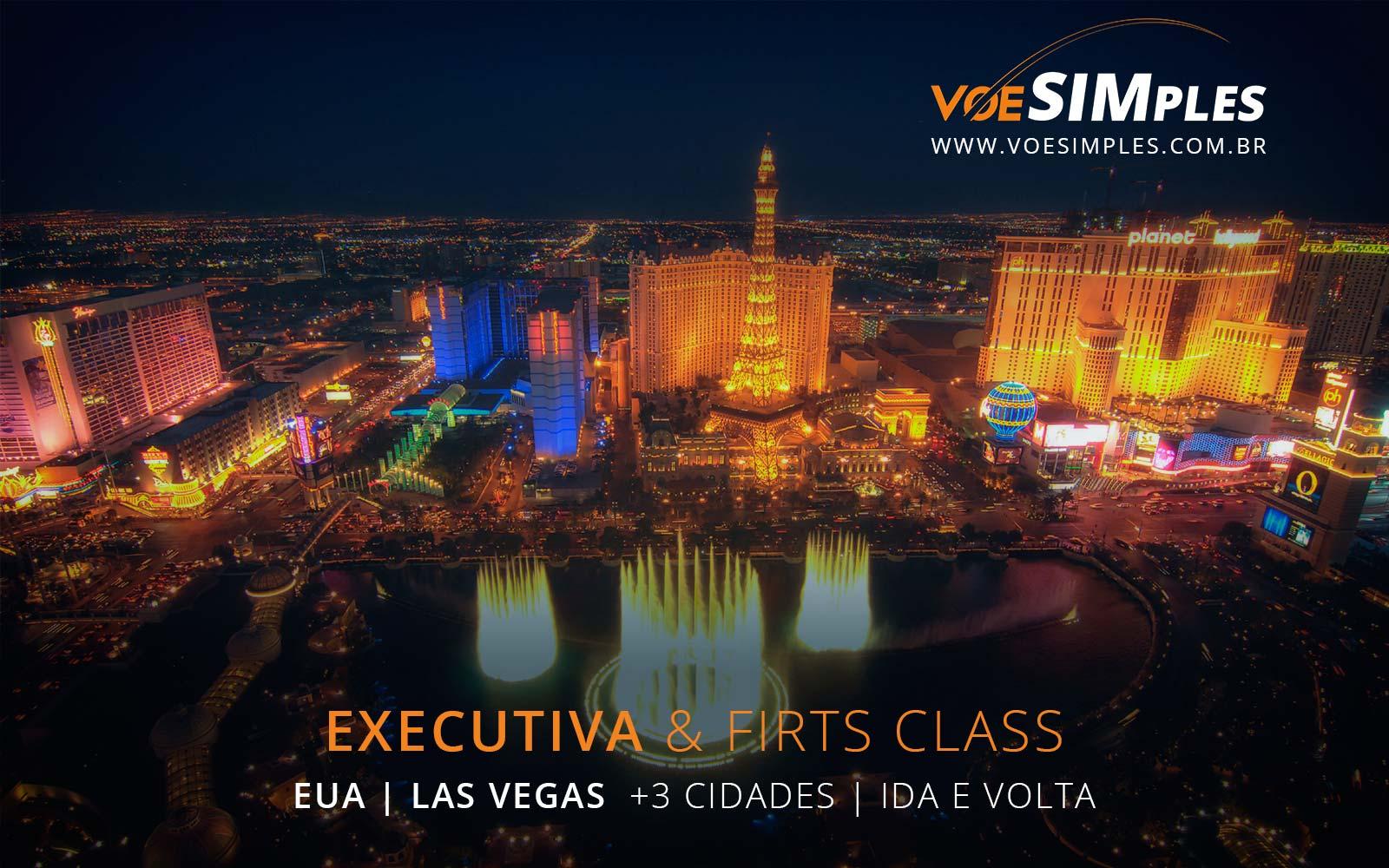 Passagens aéreas em Classe Executiva para Las Vegas, Nova York, Orlando e São Francisco nos Estados Unidos