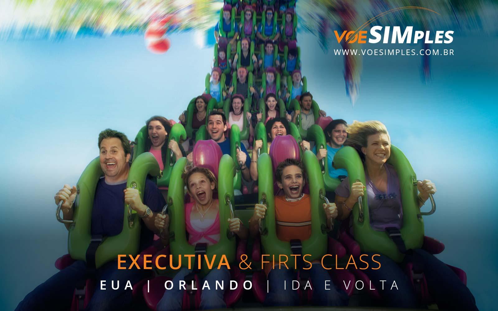 Passagens aéreas em Classe Executiva par Orlando nos Estados Unidos