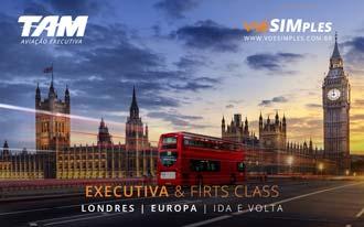 Passagens aéreas em Classe Executiva para Londres