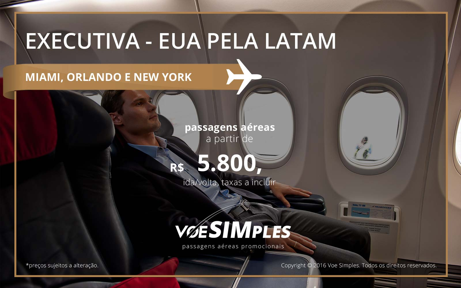 Passagens aéreas Classe Executiva LATAM para os Estados Unidos