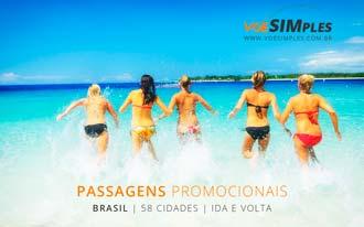 Passagens aéreas promocionais para vários destinos nacionais