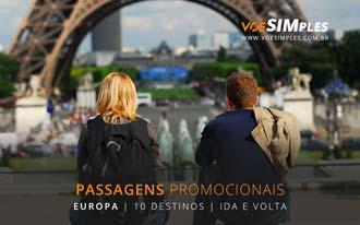 Promoção passagens aéreas para a Europa ida e volta até Outubro 2016