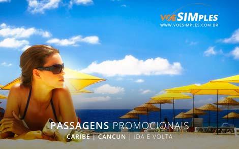 Passagem aérea promocional para Cancun