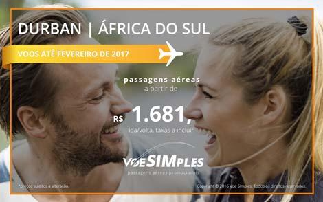 Passagens aéreas promocionais para a África do Sul