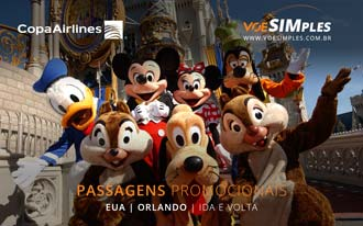 Passagens aéreas promocionais para Orlando voando Copa Airlines