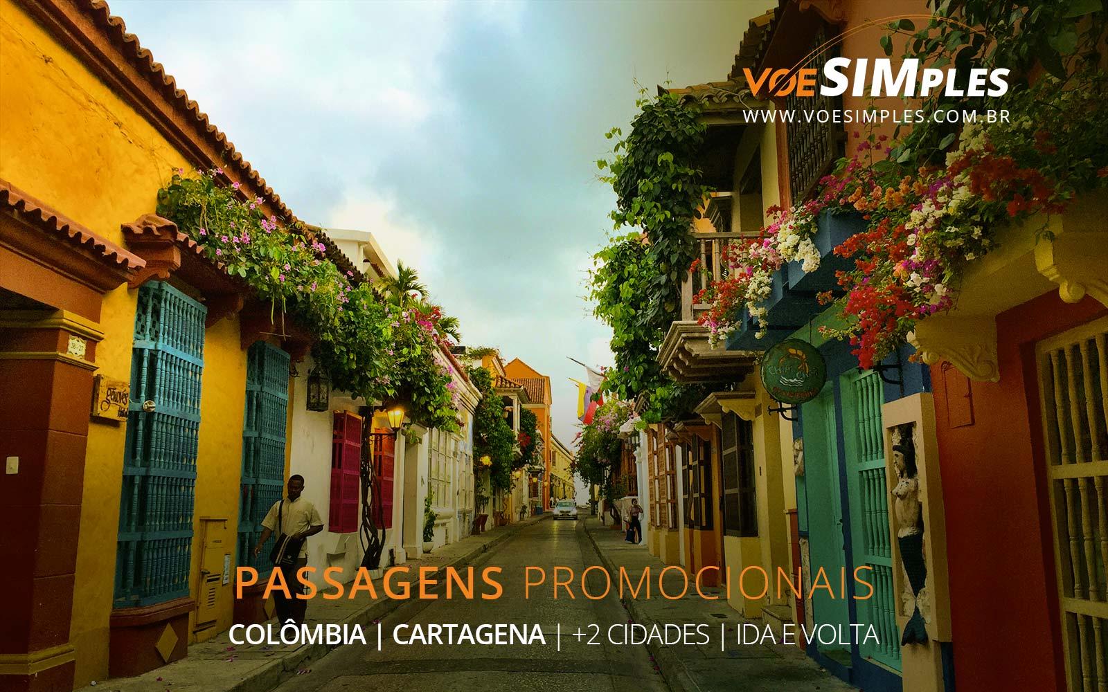 Passagens aéreas promocionais para Cartagena, Bogotá e San Andrés na Colômbia