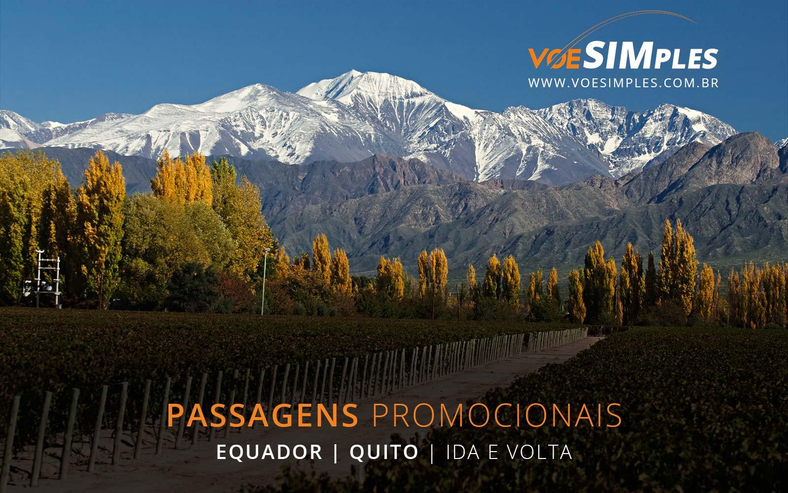 Passagens aéreas promocionais para Quito no Equador
