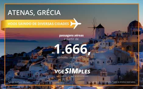 Passagens aéreas promocionais para Grécia