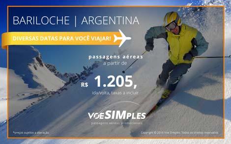 Passagem aérea promocional para Bariloche