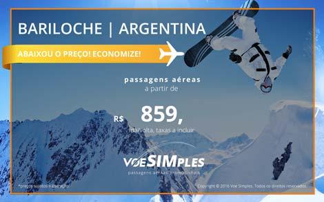 Ofertas de Voos promocionais para Bariloche