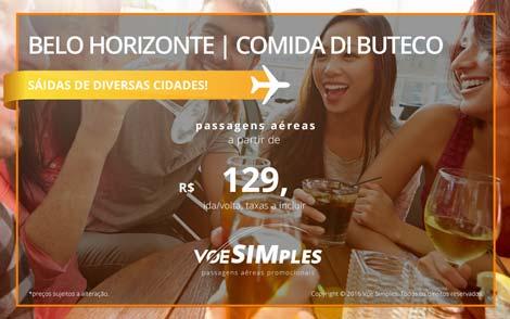 Passagem aérea promocional para Belo Horizonte