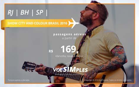 Passagem aérea promocional para o Show do City and Colour no Brasil 2016