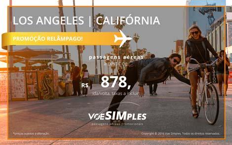 Passagem aérea promocional para Los Angeles