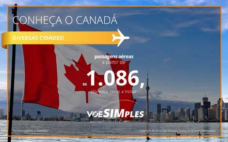 Passagens aéreas promocionais para o Canadá