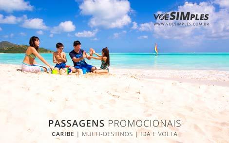Passagem aérea promocional para o Caribe no Ano Novo