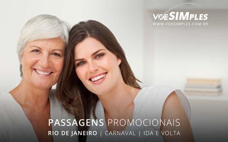 passagem promocional para o dia das mães no Rio de Janeiro